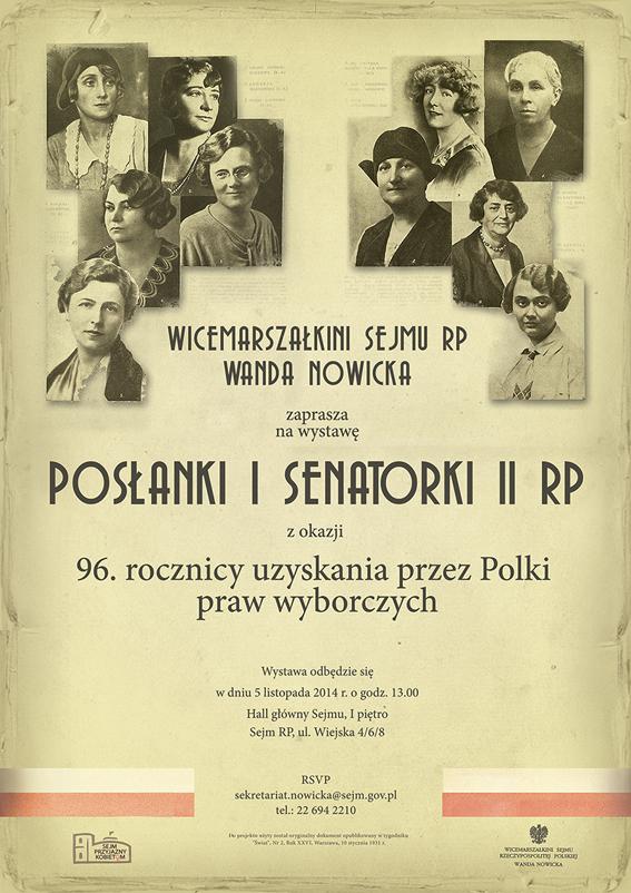 kobiety polityka posłanki senatorki wystawa Nowicka II RP historia herstoria Sejm Senat