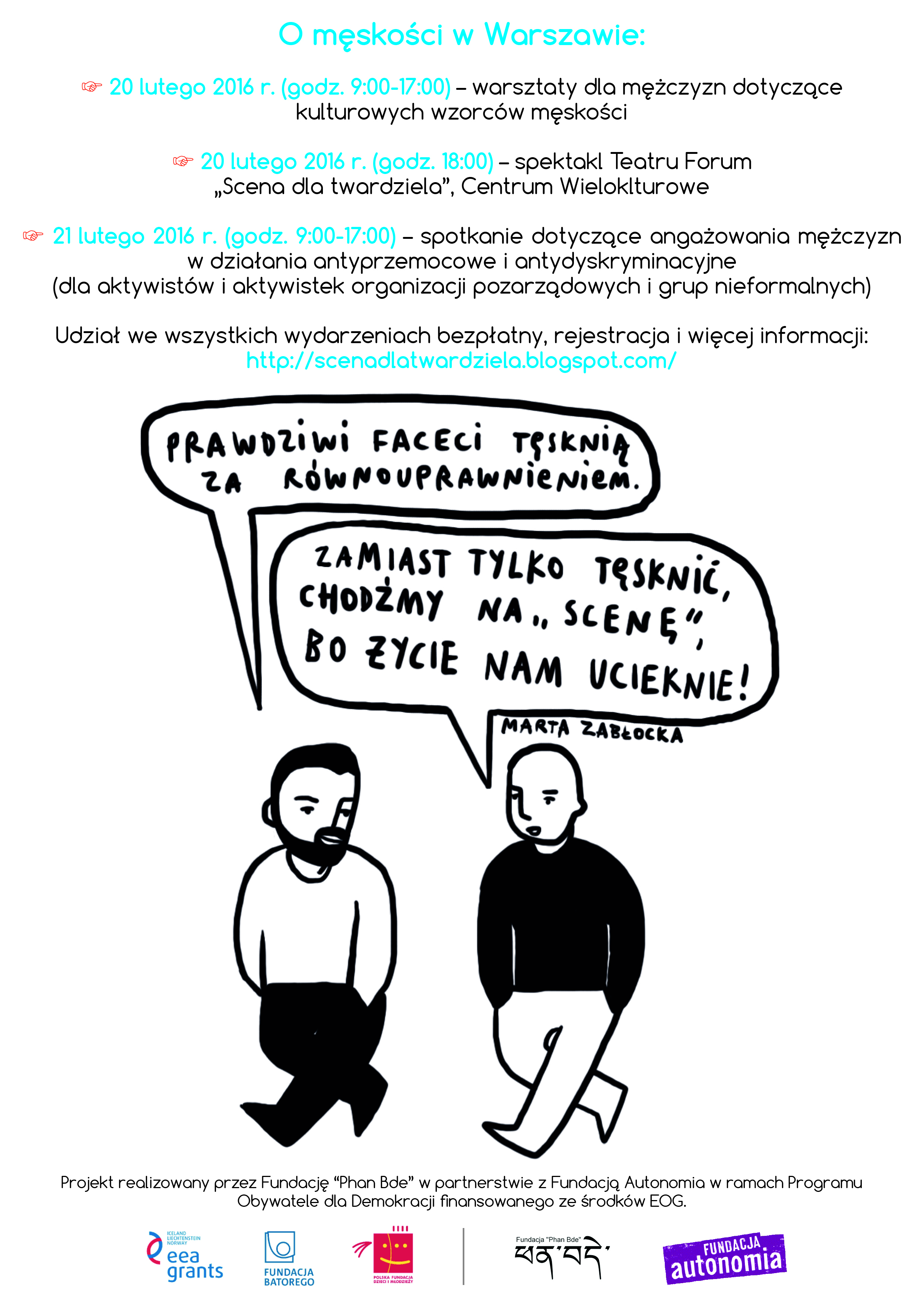 Plakat_Scena dla twardziela _Warszawa
